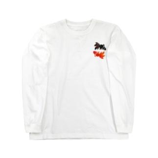 金魚! ロングスリーブTシャツ