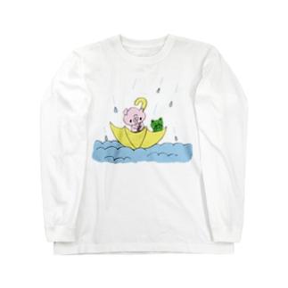 ぶーたん 黄色い傘 ロングスリーブTシャツ