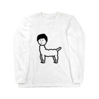 じんめんアルパカ ロングスリーブTシャツ