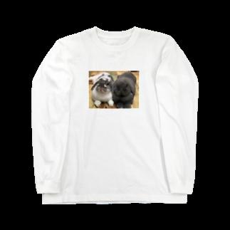うさかふぇmimiSHOPのサスケとゴマ ロングスリーブTシャツ