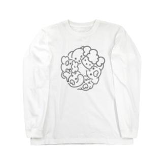シンプルわんこ ロングスリーブTシャツ