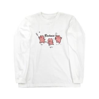 バドミン豚C ロングスリーブTシャツ