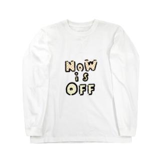 NOWisOFF ロングスリーブTシャツ