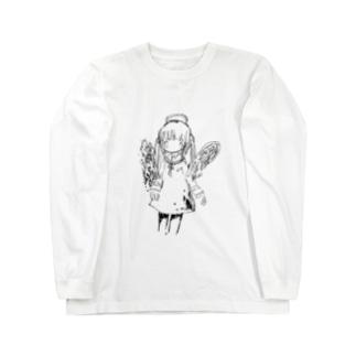 天使の絵 ロングスリーブTシャツ