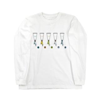 チューブタイプのインコ ロングスリーブTシャツ
