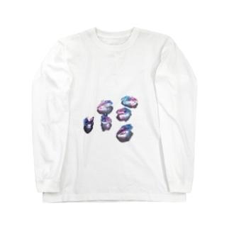 鉱物のランダム ロングスリーブTシャツ