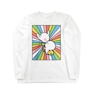 Spoiled Rabbit - Nose Kiss / あまえんぼうさちゃん - ハナキッス ロングスリーブTシャツ