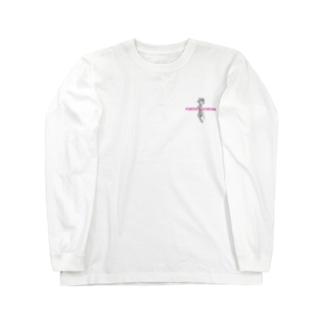 Rose Tattoo | pink letter ロングスリーブTシャツ