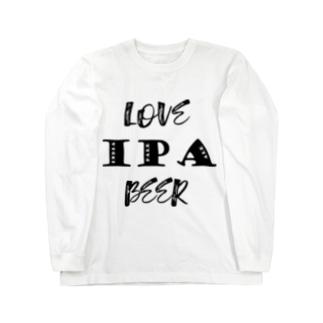 love IPA beer [Black] ロングスリーブTシャツ