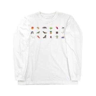 しまのなかま ハブ←→ヤエヤマオオコウモリ ロングスリーブTシャツ
