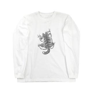 yojiyoji鯖トラ白 ロングスリーブTシャツ