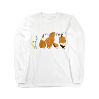 チンアナゴとチンアナゴモルモット ロングスリーブTシャツ
