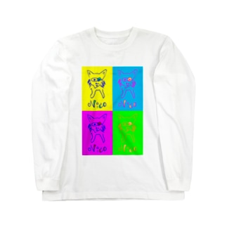pecoじい_nico ロングスリーブTシャツ