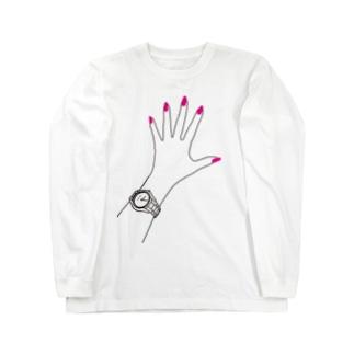 my hand♡シルエット ロングスリーブTシャツ