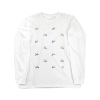 折り鶴 ロングスリーブTシャツ