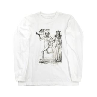 ホルバインの死の舞踏と聖書の木版画 ロングスリーブTシャツ