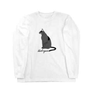 black nyaco ロングスリーブTシャツ