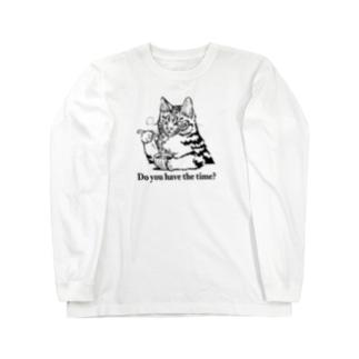 時そば猫 ロングスリーブTシャツ