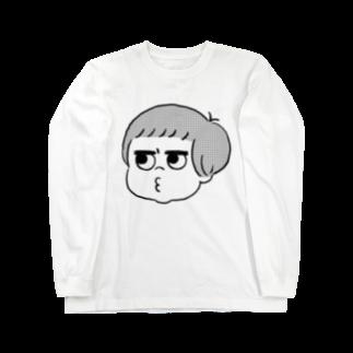 poniponi_mum shopの不平不満QP_薄い色用 ロングスリーブTシャツ