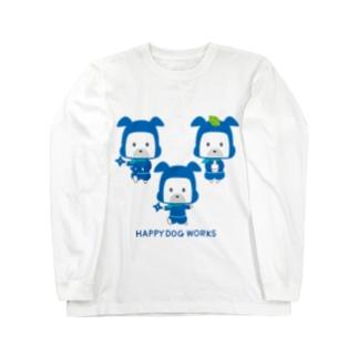 HAPPY DOG WORKS 忍者_集合A ロングスリーブTシャツ