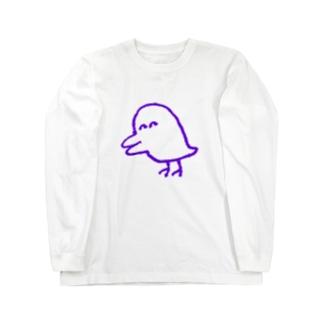 害鳥(透明) ロングスリーブTシャツ
