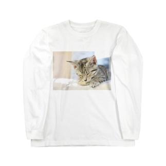 おひるね子猫(マンチカン) ロングスリーブTシャツ