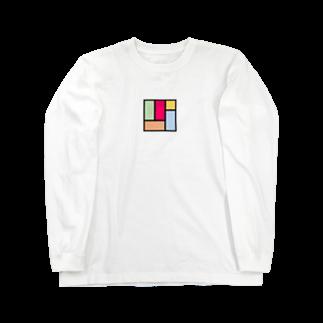 minato128のカラフル四畳半 ロングスリーブTシャツ