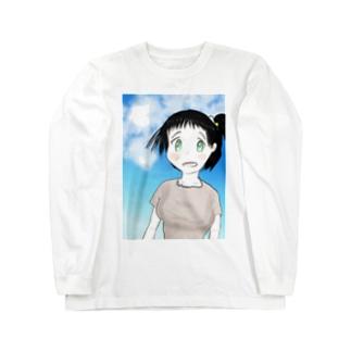ファンタジー調で描いた村娘 ロングスリーブTシャツ