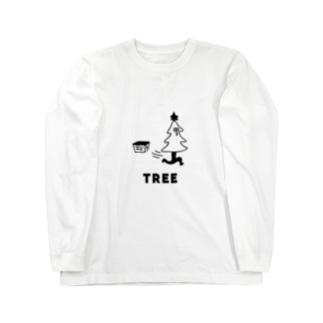 クリスマスツリーが飛び出す ロングスリーブTシャツ