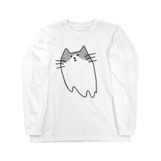 ネコオバケ ロングスリーブTシャツ