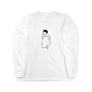 ベレー帽の女の子 ロングスリーブTシャツ