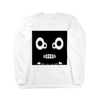 【 黒鬼: Black demon 】WFドアップ ロングスリーブTシャツ