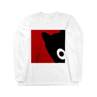 【 黒鬼: Black demon 】ちらりドアップ ロングスリーブTシャツ
