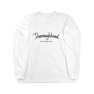 文字ネタ210 シンプル サラブレッド 黒 ロングスリーブTシャツ