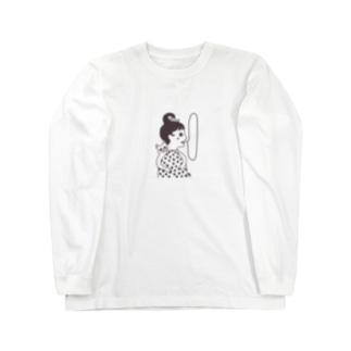 ネコと乙女 ロングスリーブTシャツ