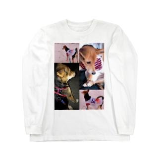 飼い犬のわんちゃん💓 ロングスリーブTシャツ