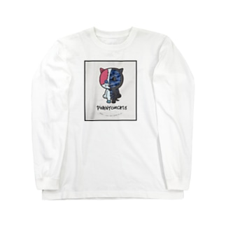BUTTON・GHOST CAMO ロングスリーブTシャツ