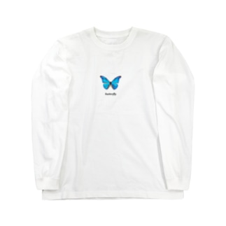 シンプル蝶々 ロングスリーブTシャツ
