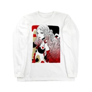 Japan red ロングスリーブTシャツ