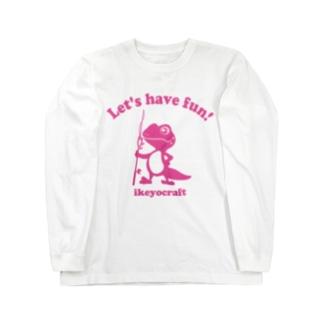 レオパピンク ロングスリーブTシャツ