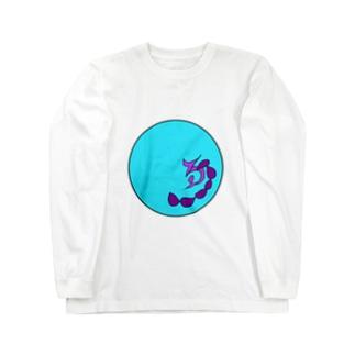 JUNSENSETA(瀬田純仙)古代絵者1水紫 ロングスリーブTシャツ