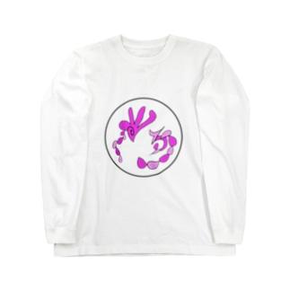 JUNSENSETA(瀬田純仙)古代絵者2透明丸ふち ロングスリーブTシャツ