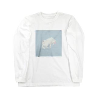 ねこさまハク ごろん[ソーダ] ロングスリーブTシャツ