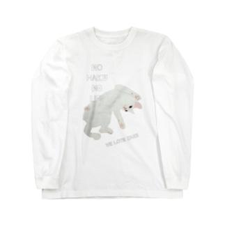 ねこさまハク ごろん[NO HAKU NO LIFE] ロングスリーブTシャツ