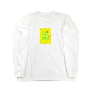 前向きメッセージアイテム ロングスリーブTシャツ