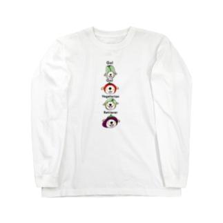 ベジタリアンレトリーバー縦バージョン ロングスリーブTシャツ