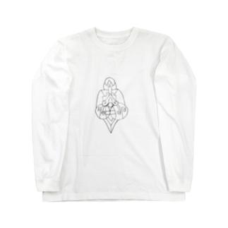 JUNSENSETA(瀬田純仙)古代の絵風20190308 発芽 ロングスリーブTシャツ