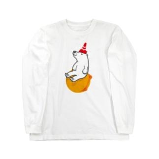 浮き球と三角コーン ロングスリーブTシャツ