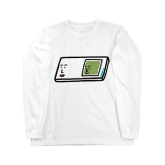 キャラNo.57プレパラートくん(スライドガラスとカバーガラスくん) ロングスリーブTシャツ