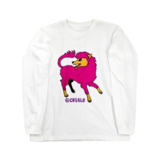 犬的なやつ《ピンク》 ロングスリーブTシャツ
